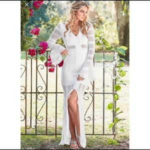 🏆 VENUS White Crochet Knit Maxi Dress XL